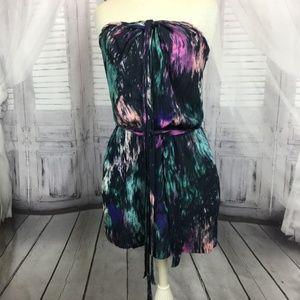 7FAM Strapless Dress Tie Dye Mini XS